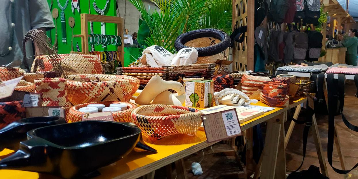 Produtos florestais não madeireiros são expostos em São Paulo