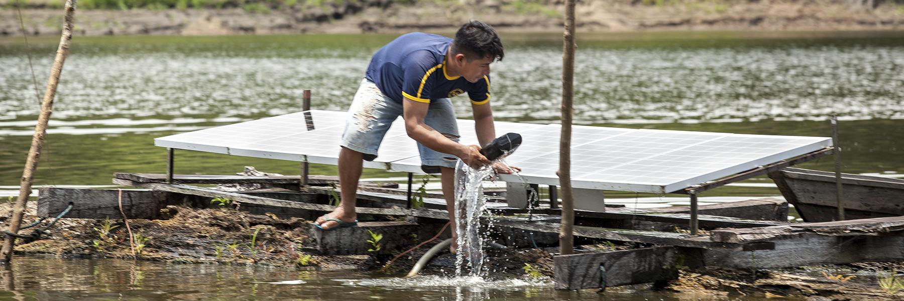 Projeto de abastecimento de água com energia solar