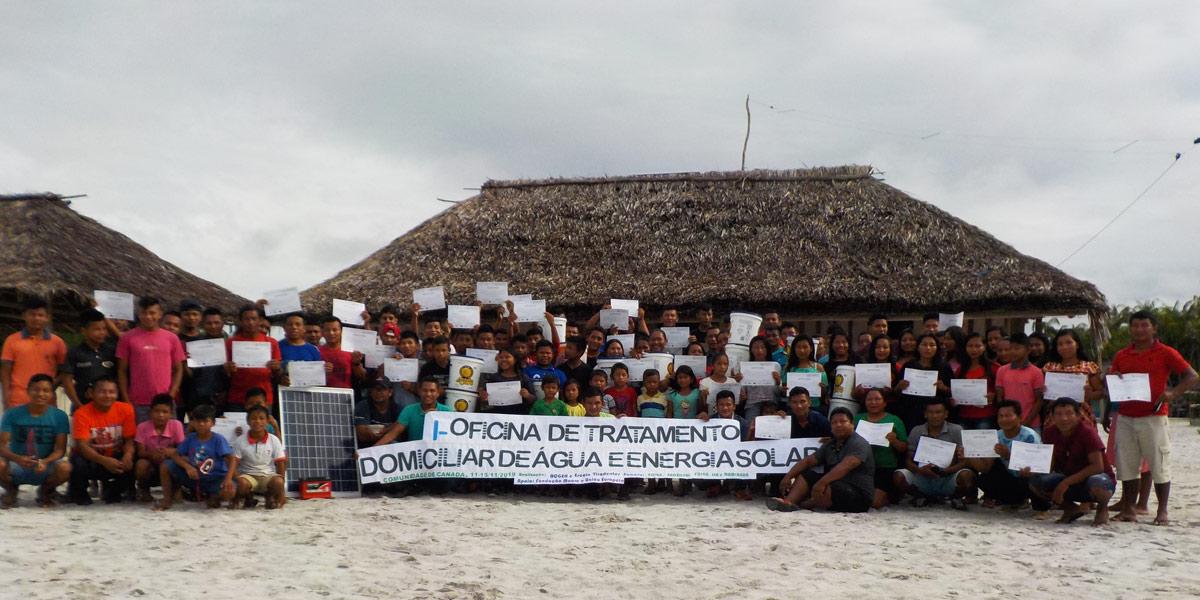 Instituto Mamirauá oferece curso de energia solar e tratamento de água em aldeia indígena baniwa